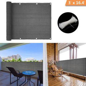 CLÔTURE - GRILLAGE HQS®Brise-Vue-Voiles d'ombrage 500 x 90cm Abriter