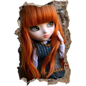 STICKERS poupée rousse Pullip avec de grands yeux verts mur