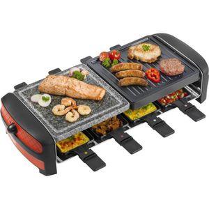 PIÈCE DE PETITE CUISSON 3 en 1 Raclette, gril et pierre de cuisson avec 8