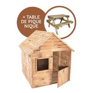TABLE DE CAMPING Cabane Marina + table de pique nique Chinchilla
