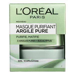 MASQUE VISAGE - PATCH L'ORÉAL PARIS - Masque Visage Purifiant Argile Pur