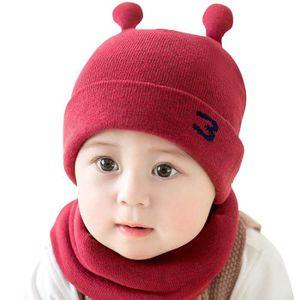 ea757f18fefb BONNET - CAGOULE MOGOI Bonnet bébé tricot chapeau hiver doux avec É ...