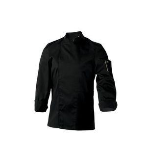 Veste de cuisine noire manche longue