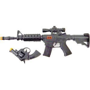 PISTOLET BILLE MOUSSE WONDERKIDS - Mitraillette Sonore 47cm + Pistolet