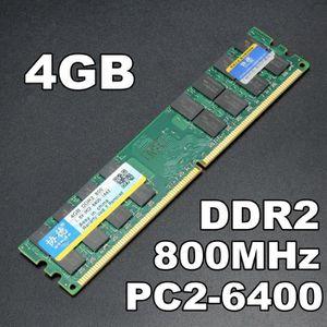 MÉMOIRE RAM XIEDE 2PCS 4G Mémoire RAM DIMM DDR2 800Mhz 2-6400