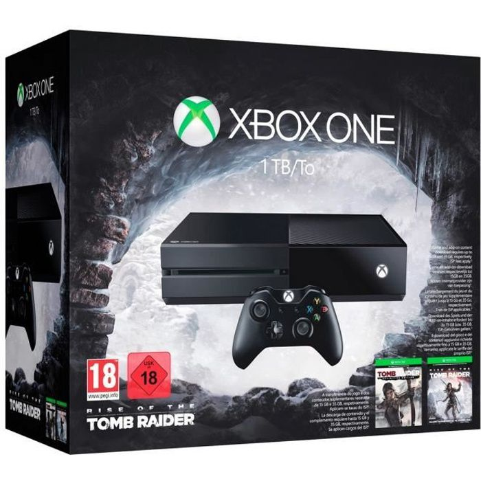 CONSOLE XBOX ONE Xbox One 1 To + Rise of the Tomb Raider + Tomb Rai