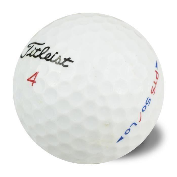 TITLEIST Lot de 50 Balles de Golf Titleist PTS Solo Reconditionnées