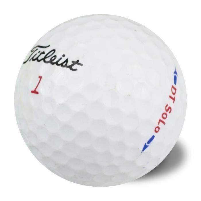 TITLEIST Lot de 50 Balles de Golf Titleist DT Solo Reconditionnées