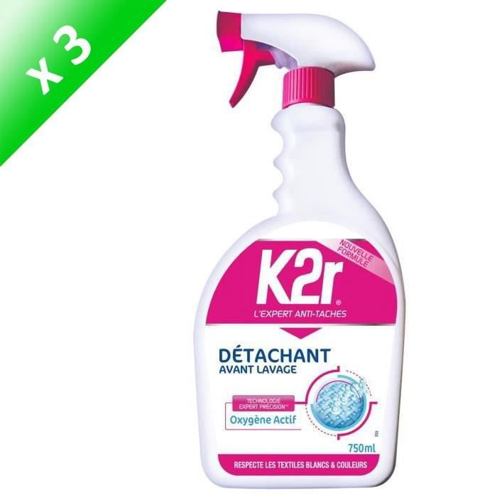 K2R Détachant avant-lavage pistolet - 750 ml - Lot de 3