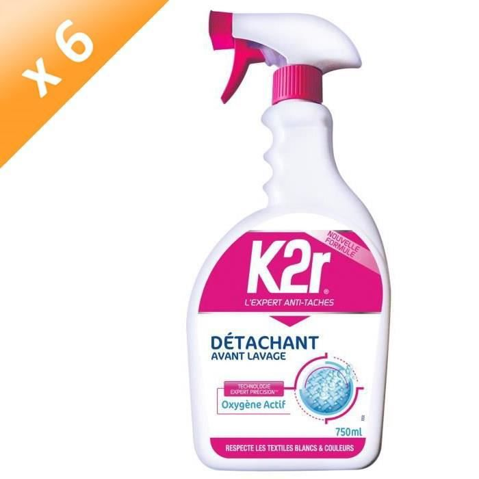 K2R Détachant avant-lavage pistolet - 750 ml - Lot de 6