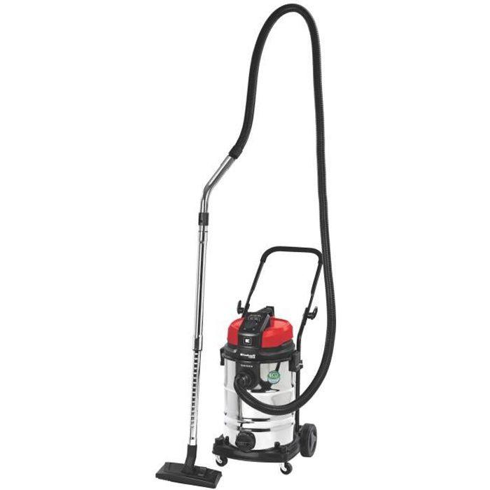 EINHELL Aspirateur eau et poussière 1150W - Cuve inox 30L  Prise de courant asservie avec démarrage