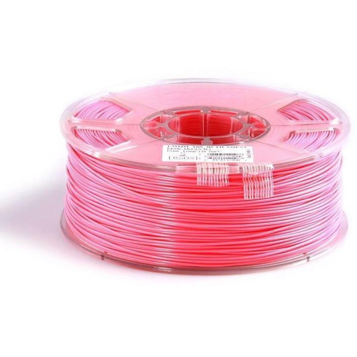 ESUN Filament pour Imprimante 3D ABS - Rose - 3 mm - 1kg