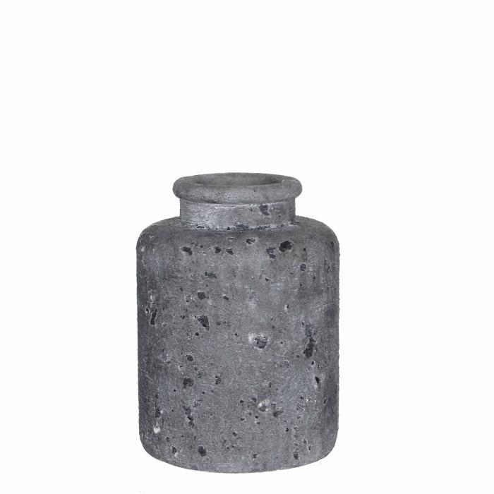 Vase Peak rond gris foncé - h26xd19,5cmVASE - SOLIFLORE