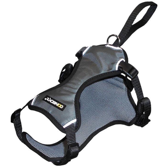 NUM'AXES Harnais auto nylon Security Coneck'T - S : 58-70cm - Noir - Pour chien