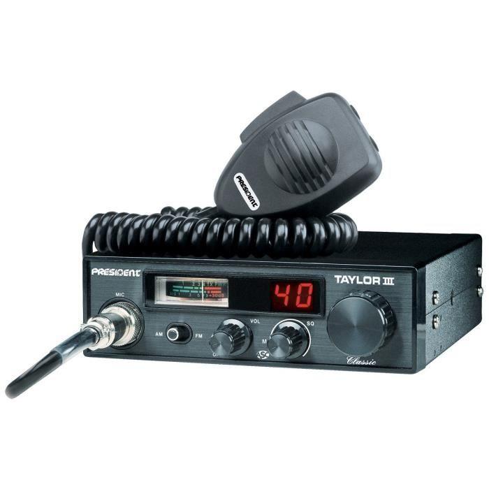 PRESIDENT Station de radio CB Taylor III ASC - 40 cannaux AM / FM - Multinormes