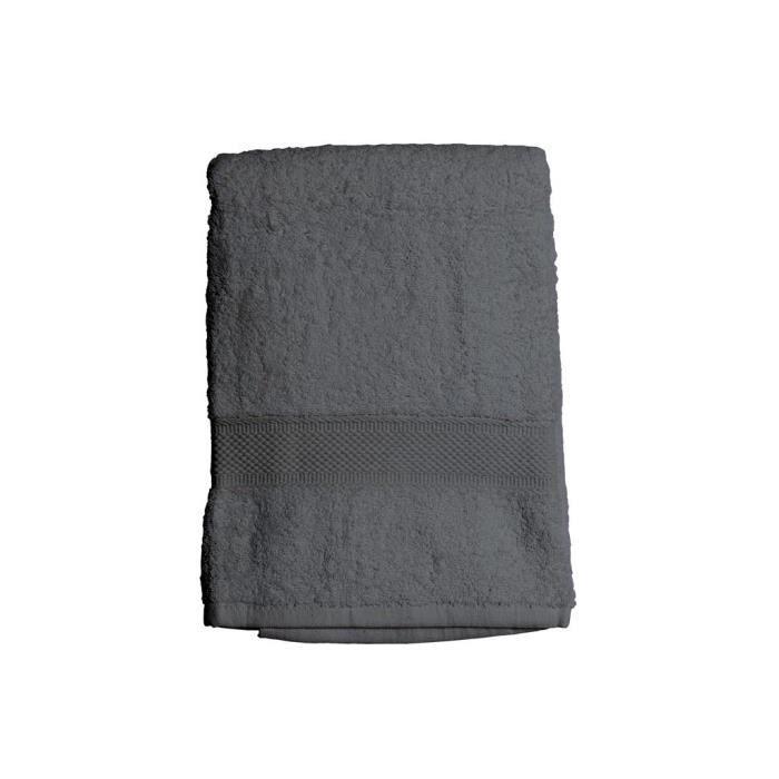 SOLEIL D'OCRE Drap de bain 100% Coton DOUCEUR 70x130 cm - Gris