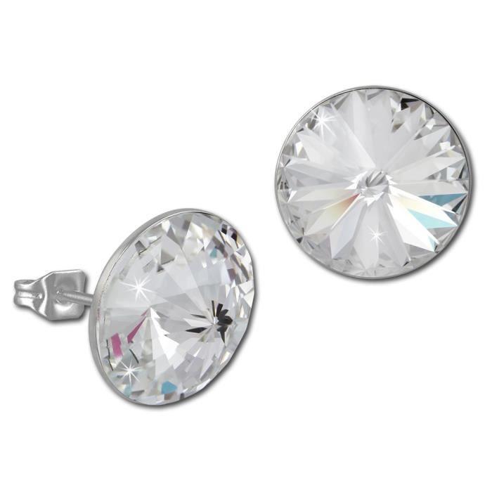 Boucles d 39 oreilles cristaux swarovski elements achat - Boucle d oreille swarovski pas cher ...