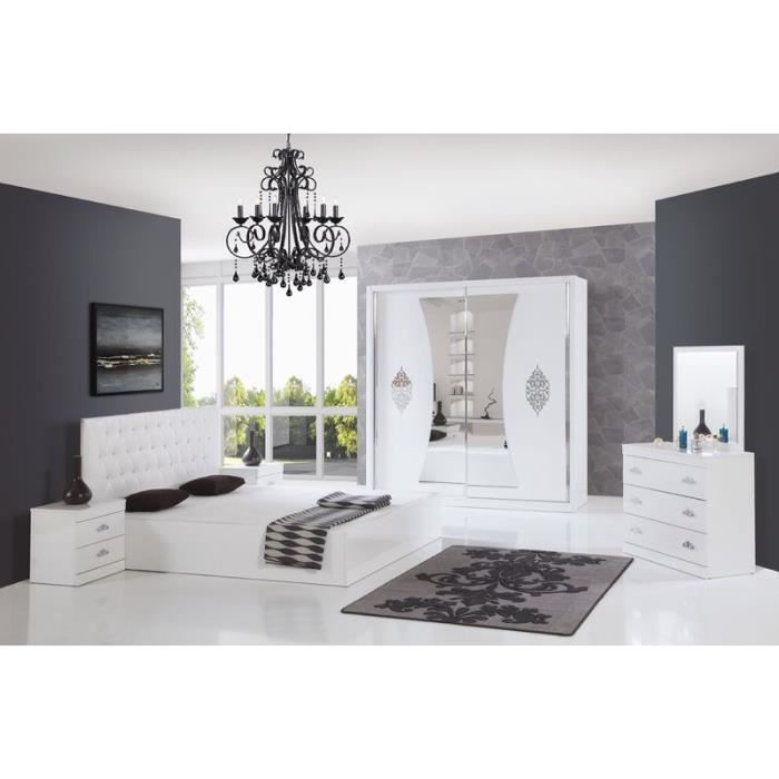 Chambre compl te adulte achat vente chambre compl te Lits armoires adultes