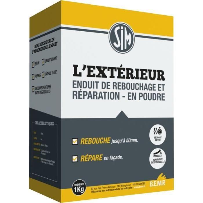 Enduit Lexter Extérieur Rebouchage Et Réparation Kg Achat - Enduit de rebouchage exterieur