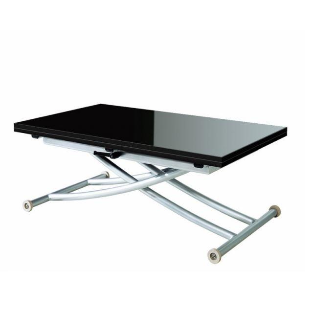 Table Basse Relevable Ilona Laquee Noir Achat Vente Table Basse