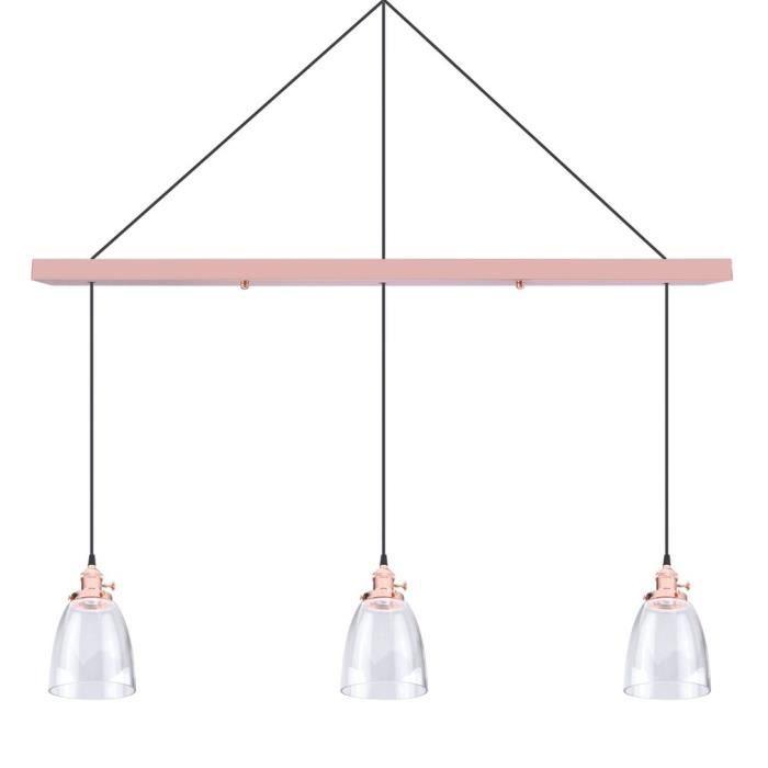 Style B Luminaire Têtes Ampoule Modern Rose 3 Suspension Sans 5RjL3A4