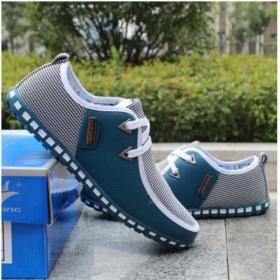 Nouveau mode Toile Chaussures Hommes Souliers A...
