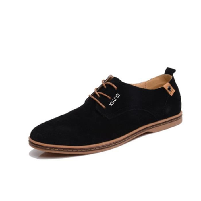 DERBY Derby Hommes Chaussures Suede Noir