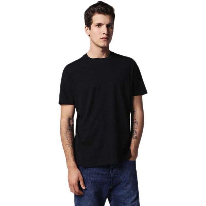 dd6b0387101a Vêtements homme T-shirts Diesel T Daniel Noir Noir - Achat   Vente t ...