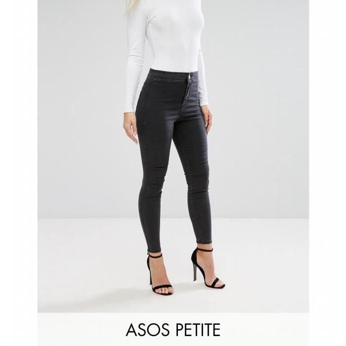4c24b34fa8 Trendtwo RIVINGTON - Jegging en jean taille haute - Noir délavé ...