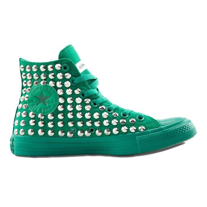 CONVERSE HOMME H05FUNO1722 VERT COTON BASKETS MONTANTES 1fLYXp8Jq