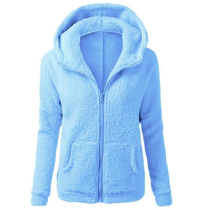 Manteau tricoté à capuche pour femmes Manteau d hiver en laine ... 634a1ddecf87