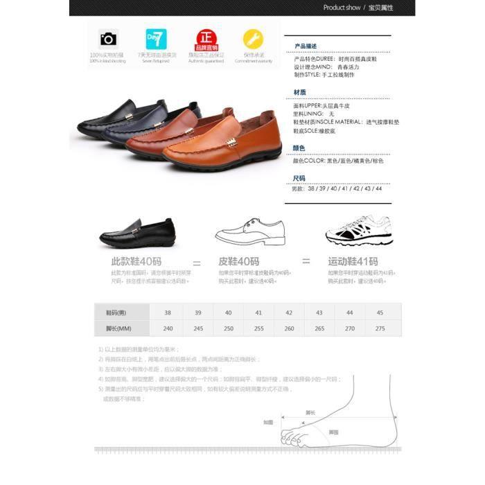 Hommeschaussuresde conduite Voyage en plein air de pois loisirs d'été nouveaux hommes de la mode masculine chaussures en cuir n7BVk9