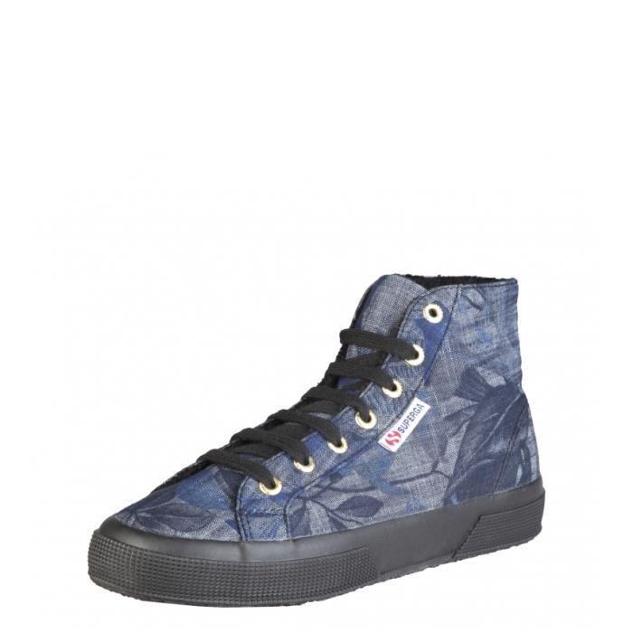 Superga - Couleur chaussures de fleurs bleu