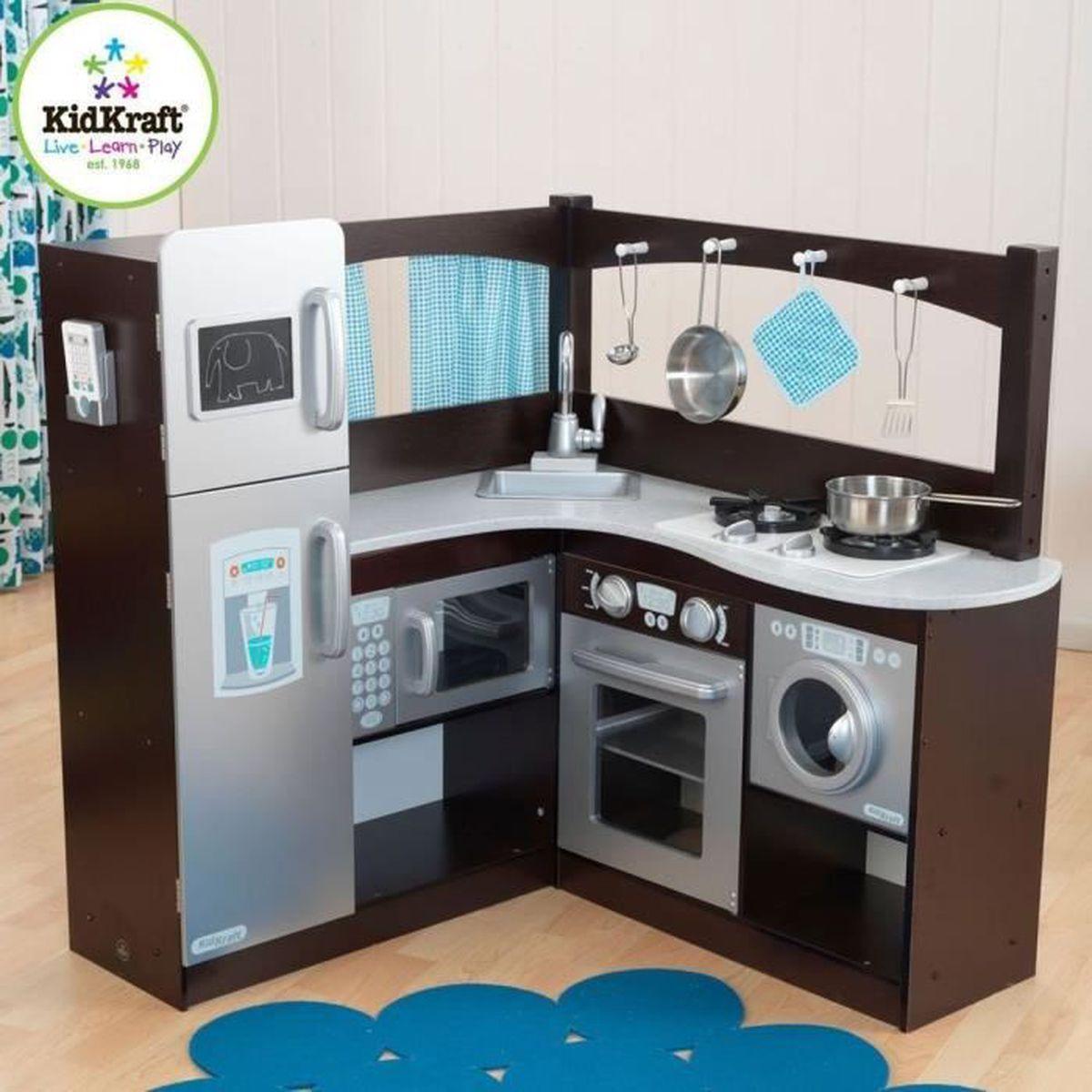 coin cuisine dinette en bois moderne taille xxl pour enfants achat vente dinette cuisine. Black Bedroom Furniture Sets. Home Design Ideas