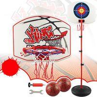 80-200cm Stand de basketball Dard Cible Équipement de sport réglable d'enfants de 4 sections de taille