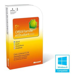 BUREAUTIQUE Office Famille et Etudiant 2010 (1 PC)