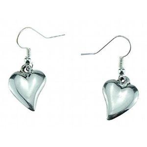 Anniversaire De Mariage Dixieme Feminin Traditionnel Tin Coeur Boucles D Oreilles 100 Pur 10e Anniversaire K1vb7