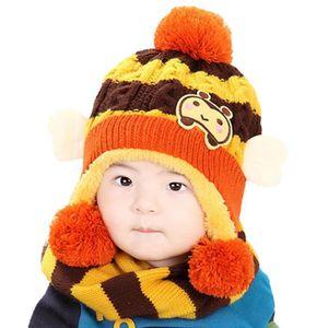 65dd711b349 ECHARPE - FOULARD Bébés filles garçons Chapeau d hiver écharpe de la