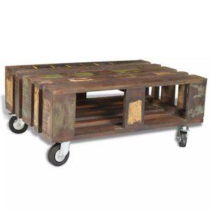 TABLE BASSE R28 La table basse en bois exotique recycle a un c