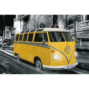 poster taxi new york achat vente poster taxi new york pas cher cdiscount. Black Bedroom Furniture Sets. Home Design Ideas
