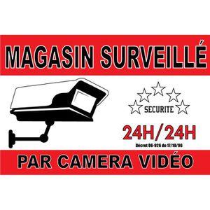 PANNEAU EXTÉRIEUR Panneau Magasin Surveillé Par Caméra Vidéo 200X140