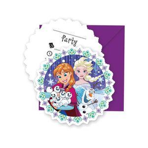 Invitation reine des neiges achat vente pas cher faire part invitation 6 cartes dinvitation avec enveloppes la reine des stopboris Gallery
