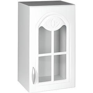 Meuble cuisine haut blanc vitre achat vente meuble - Porte element cuisine ...