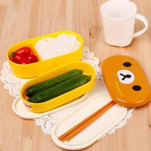 LOT APPAREIL PETIT DEJ Boîte à lunch à Déjeuner en plastique double couch