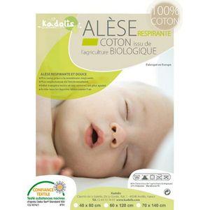 PROTECTION MATELAS  Alèse COTON BIO - Lit bébé 60x120 cm
