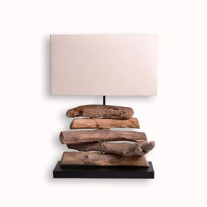 lampe a poser en bois flotte achat vente lampe a poser en bois flotte pas cher soldes d s. Black Bedroom Furniture Sets. Home Design Ideas