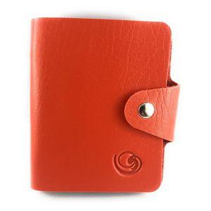 CARTE A COLLECTIONNER Mini classeur souple Lagiwa® ORANGE pour Cartes Po