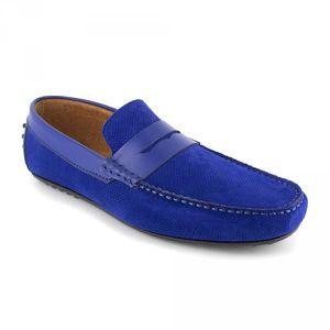 MOCASSIN Mocassin J.Bradford Blue Leather JB-BERFIN - Coule