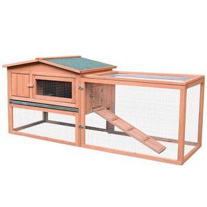 CLAPIER Clapier cage à lapins rongeurs 2 étages tiroir déj