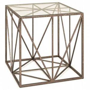 TABLE D'APPOINT Table d'appoint en métal laqué bronze antique - Di